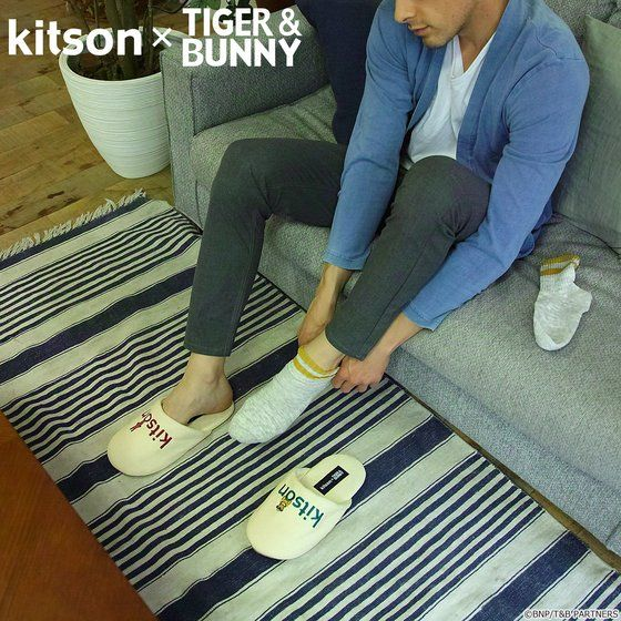 プレミアムバンダイ新着!kitson × TIGER & BUNNY ルームシューズ&ポーチ ※オリジナルハンカチ付き 新作グッズ予約情報