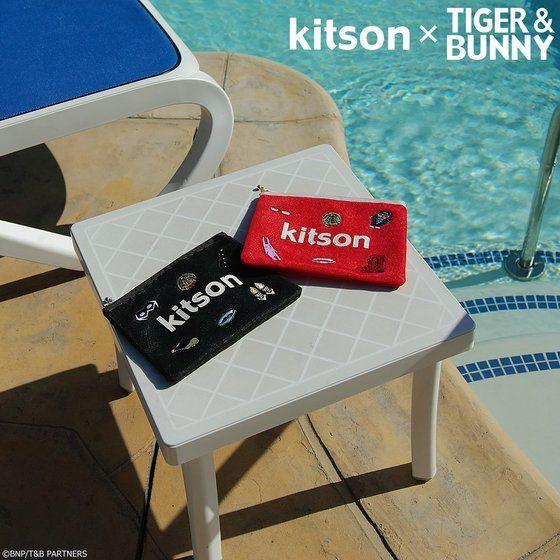 プレミアムバンダイ新着!kitson × TIGER & BUNNY メッシュポーチ ※オリジナルハンカチ付き 新作グッズ予約情報