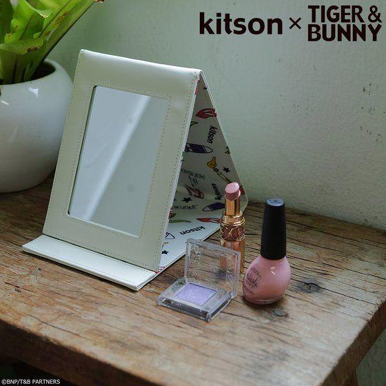 プレミアムバンダイ新着!kitson × TIGER & BUNNY スタンドミラー&ミラーポーチ ※オリジナルハンカチ付き グッズ新着情報