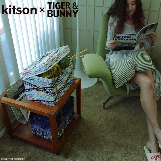 プレミアムバンダイ新着!kitson × TIGER & BUNNY ストレージボックス ※オリジナルハンカチ付き【2018年11月発送予定】